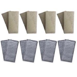 8-x-FLUVAL-U2-Mousse-compatible-et-Polycarbon-cartouches-filtre-interne-eponges