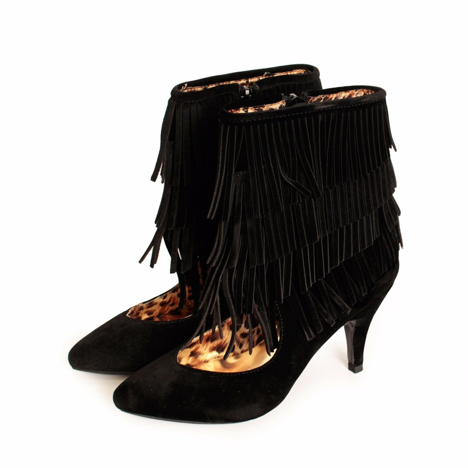 Ladies High Heel Fringe Tassel Toe Womens Sandals Strappy Stiletto Shoes Sizes