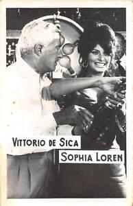 B55168 Vittorio de Sica and Sophia Loren Couple Acteurs Actors 9x7cm