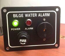 "MARINE BOAT BILGE ALARM PUMP SWITCH ALUMINUM PLATE 3.25"" by 2.5"" LED INDICATORS"