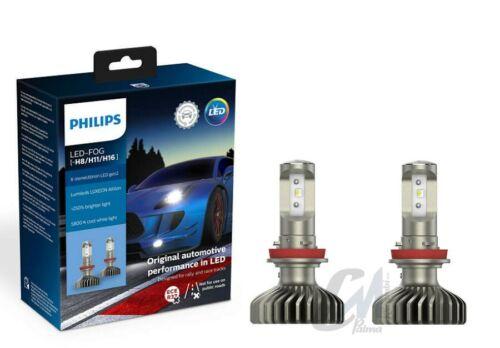 2 LAMPADE PHILIPS LED-FOG X-tremeUltinon 5800K 250/% LUCE H8//H11//H16 11366XUWX2