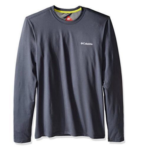 Large NEW COLUMBIA MEN'S Trail Summit Long Sleeve Shirt Dark Gray