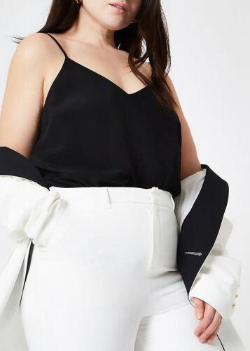 River Island NEW Black Cami Vest Top in Curve Plus Sizes 18-28