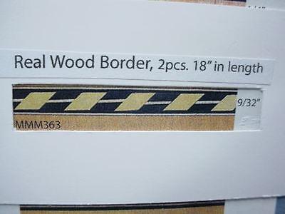 "18/"" Length #MM367 Mini-Magic 2 Dollhouse Miniature Wood Inlay Border Strips"