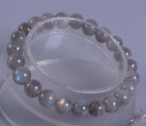 6//8mm Natural Gray Labradorite Gemstone Round Beads Stretchy Bracelet 7.5/'/'