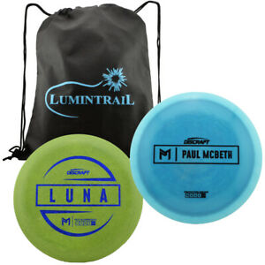 Discraft-Paul-McBeth-Luna-Putter-Disc-170-172g-amp-Proto-Driver-173-174g-with-Bag