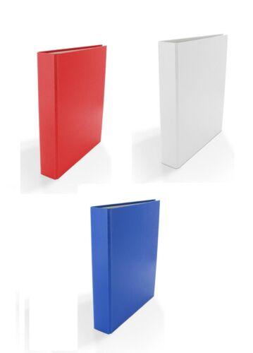 DIN A5 4-Ring Ordner 3x Ringbuch Farbe rot und blau je 1x  weiß