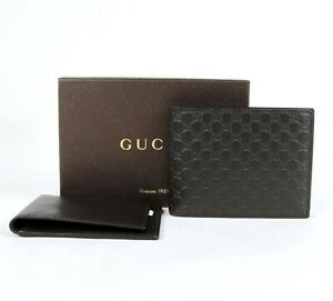 Gucci-Men-039-s-Dark-Brown-Guccissima-Leather-Bi-fold-Wallet-333042-2044