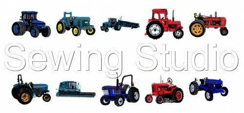 Tracteurs 1 Designs-Machine Embroidery Designs sur cd ou USB