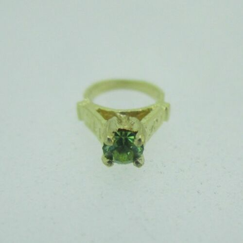 14k Yellow Gold August Birthstone Ring Charm