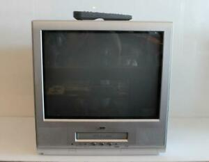 20-034-JVC-TV-20F242-CRT-Retro-Gaming-TV-VCR-Combo-TV-Television-w-Remote-Control