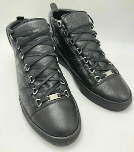 Details about Authentic New Balenciaga Arena High Top Leather Lace Up Sneakers EU 45 US 12.5