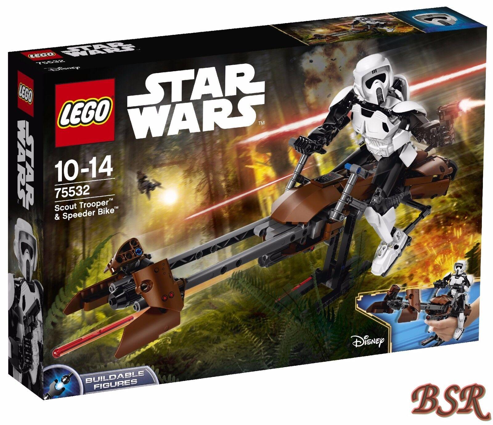 LEGO ® Star Wars ™: 75532 Scout Trooper ™ & Speeder Bike ™ & 0.€ Spedizione Ovp Nuovo