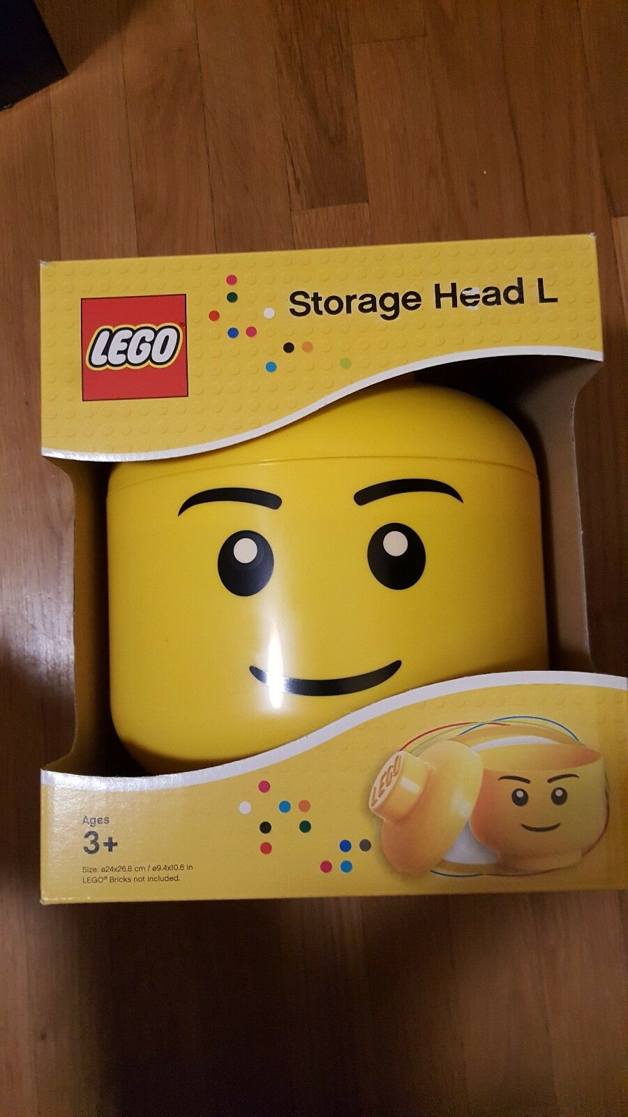 Lego Large Yellow Storage Head - Brand New in Box Box Box RETIRED 3d9a7f