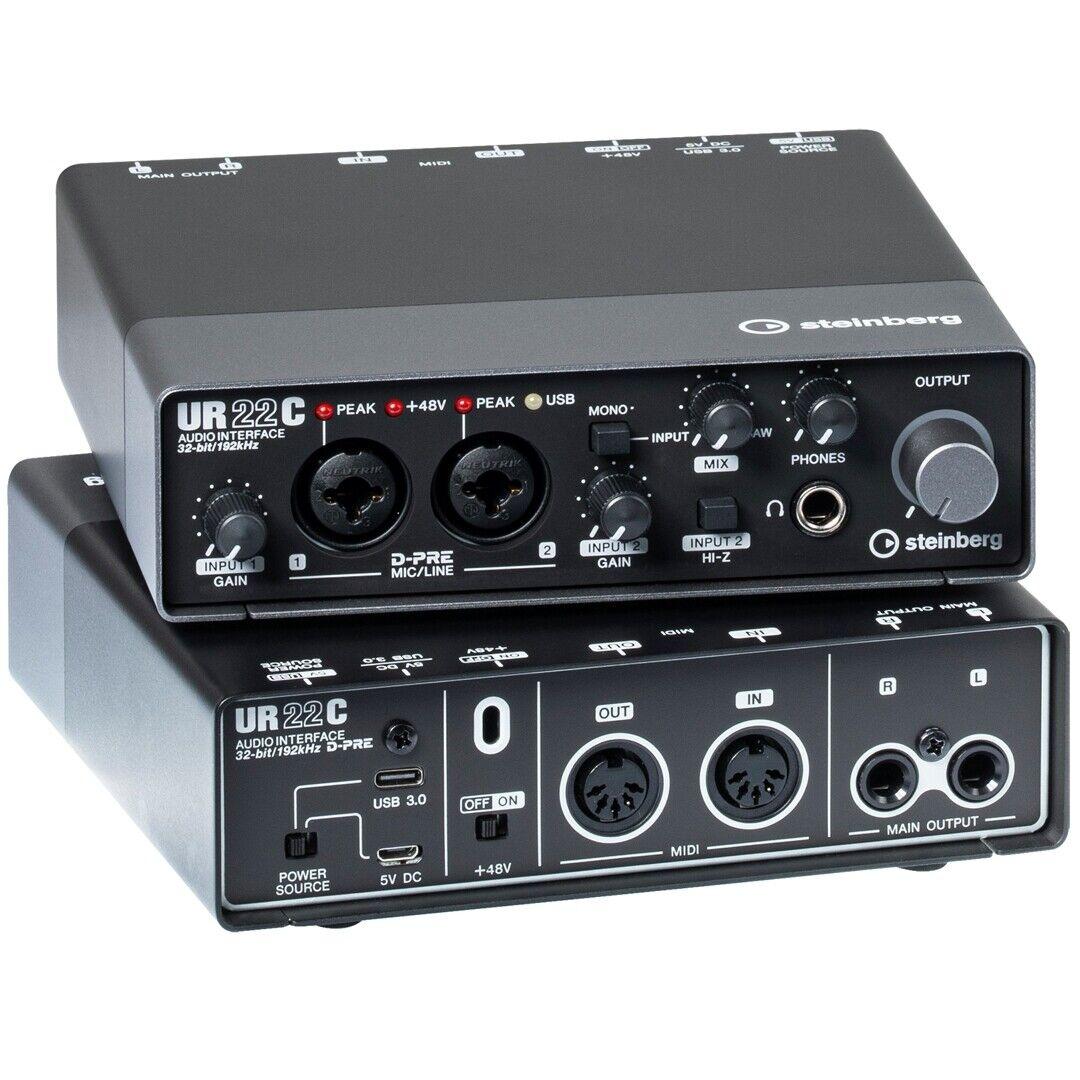 Steinberg UR22C - Interfaccia Audio MIDI USB 3 con Connettività iPad