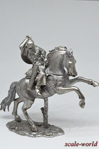 Dose Soldat, Figur. Russisch Pferd Krieger 54 MM