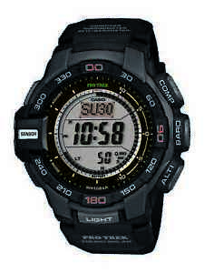 Casio Pro Trek Men's Tough Solar Triple Sensor Black Resin 52mm Watch PRG270-1