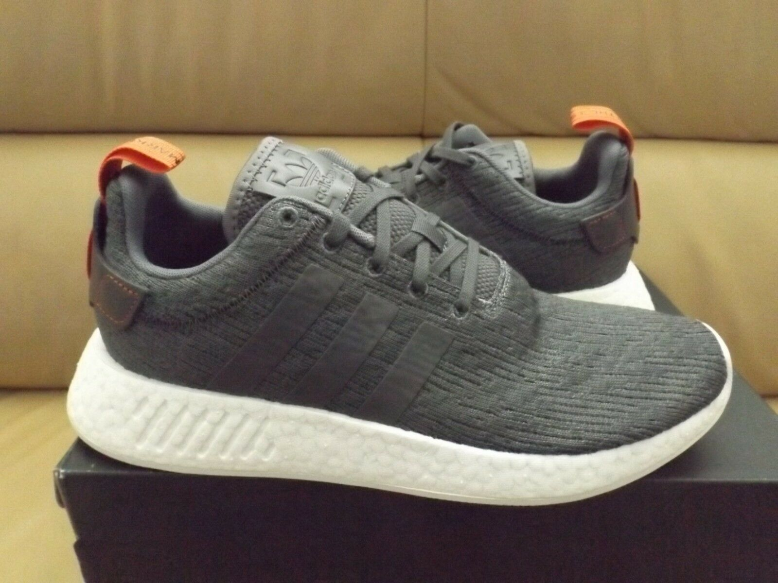 42d6e8010 Adidas NMD R2 Men s shoes Size 9.5 Grey Future Harvest Boost BY3014 (NEW)  White ndrihr7316-Athletic Shoes