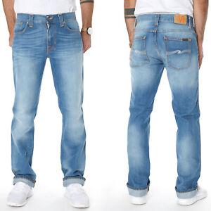 Nudie-Herren-Regular-Slim-Straight-Fit-Jeans-Hose-Slim-Jim-Midsummer-Blue