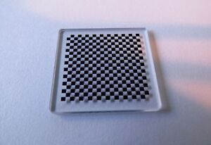 Details about Chess board OpenCV Correct lens distortions calibration plate  Stage 3 x 3mm