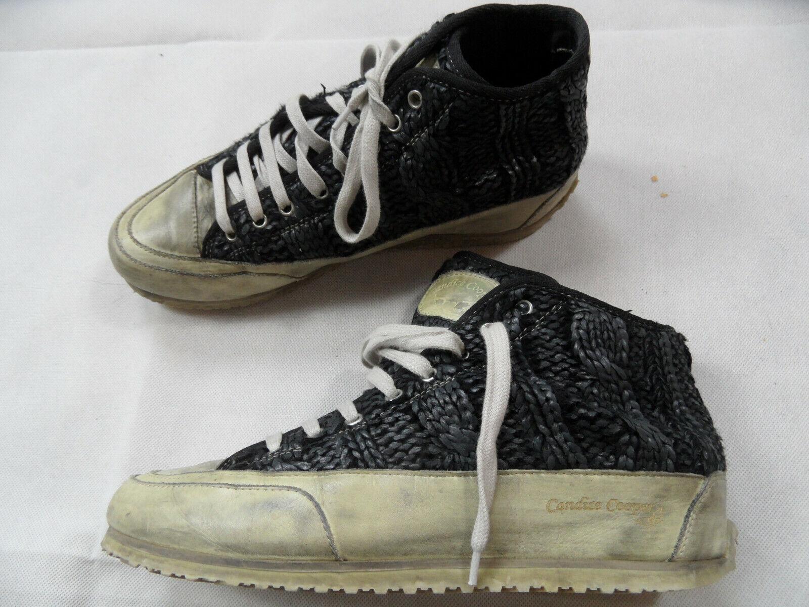 CANDICE COOPER stylische Sneakers in Strickoptik black Gr. 40 TOP JE219