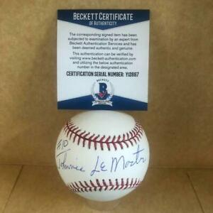 JOHNNIE LEMASTER SAN FRANCISCO GIANTS SIGNED AUTO M.L. BASEBALL BECKETT Y12697