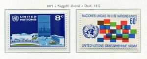 19102-UNITED-NATIONS-New-York-1971-MNH-Definitives