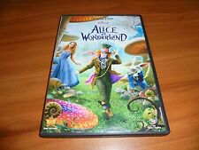 Alice in Wonderland (DVD, Widescreen 2010) Johnny Depp Used Disney