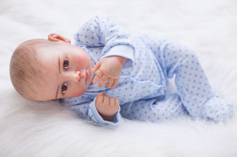 20  realistico RINATO Baby Soft Vinyl SILICONE realistica Boy Doll neonato NUOVO GIF