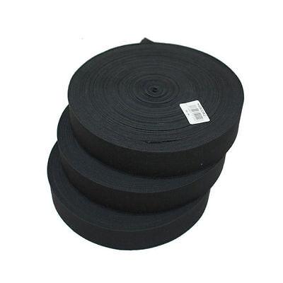 80mm Black /& White Sewing Dressmaking High Quality Flat Knitted Elastic 15mm