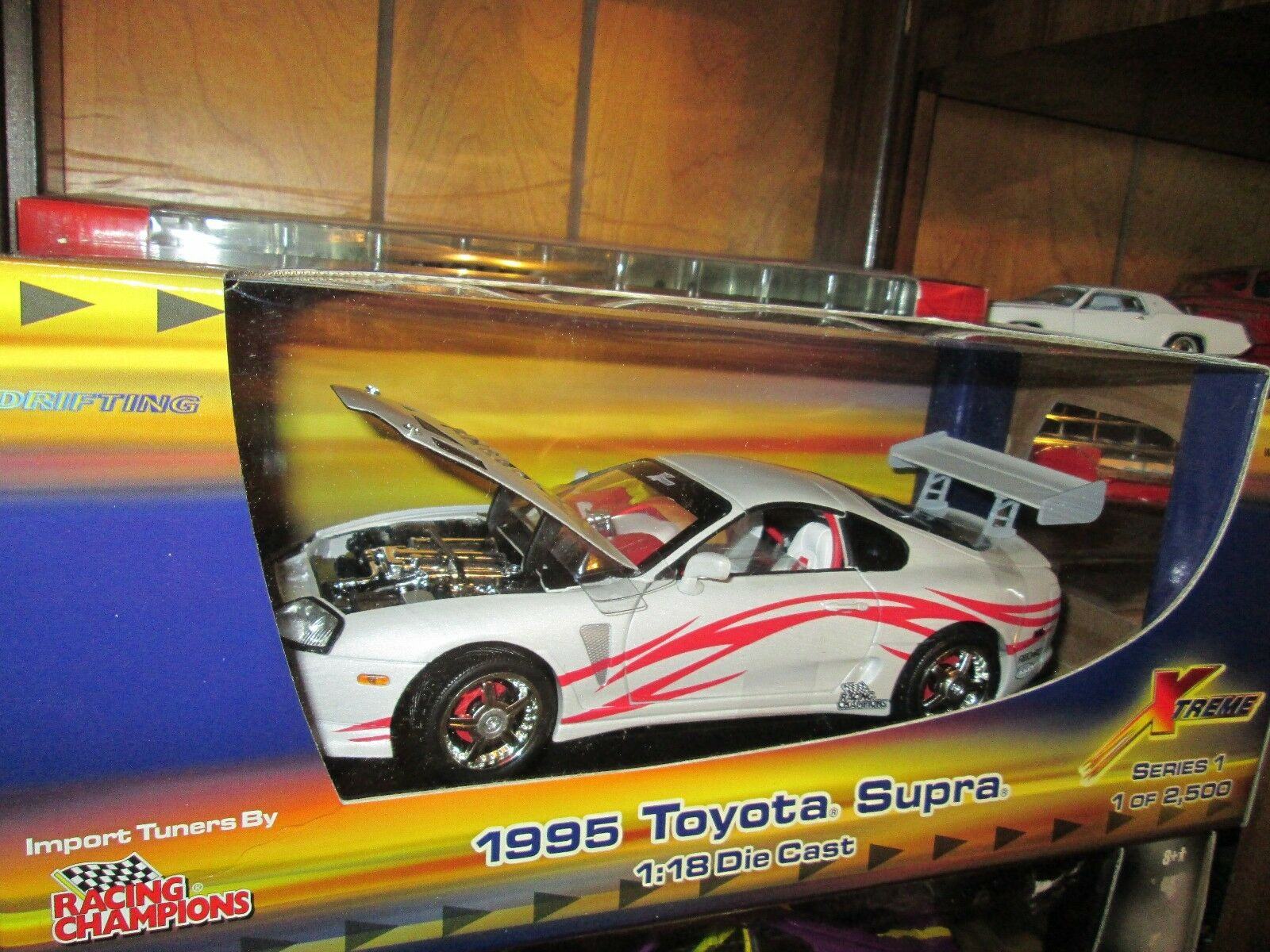 95 TOYOTA SUPRA DRIFTING 1995 1 18 ERTL AMERICAN MUSCLE STREET TUNER 1 of 2500