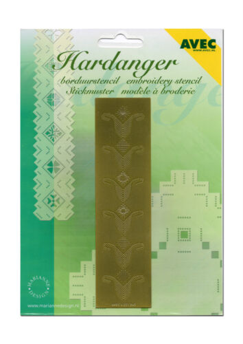 Neu /& OVP E-017 AVEC Hardanger Stickschablone Schablone Tulpen  Muster