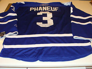 Dion Phaneuf Toronto Maple Leafs Signed NHL Premier Hockey Jersey Home XL