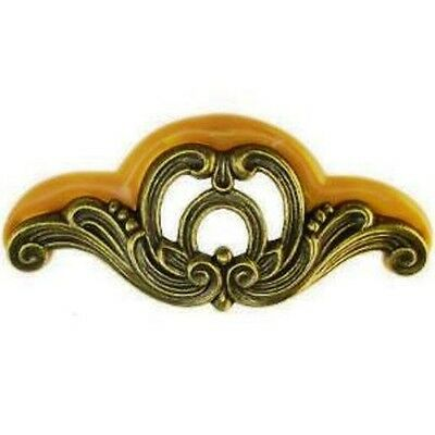 "WF-103 WATERFALL BAKELITE & DIE CAST DRAWER PULL, NEW REPRO, 5-1/8"" W X 2-1/4"" H"