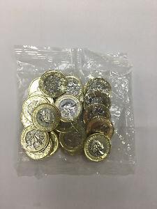 20x Handgehoben 12 Seitlich Ein Pfund Münze 2017 Königliches Münzamt
