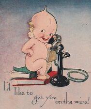 RARE 1914 Artist Signed Rose O'Neill Die Cut Pop Up Kewpie Doll Klever Kard