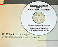 Hp Hewlett Packard 3588a Spectrum Analyzer Service 2-volumes With Schematics