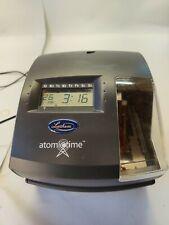 New Listinglathem Model 1500e Atomic Time Recorder Punch Clock Tested No Key Clean
