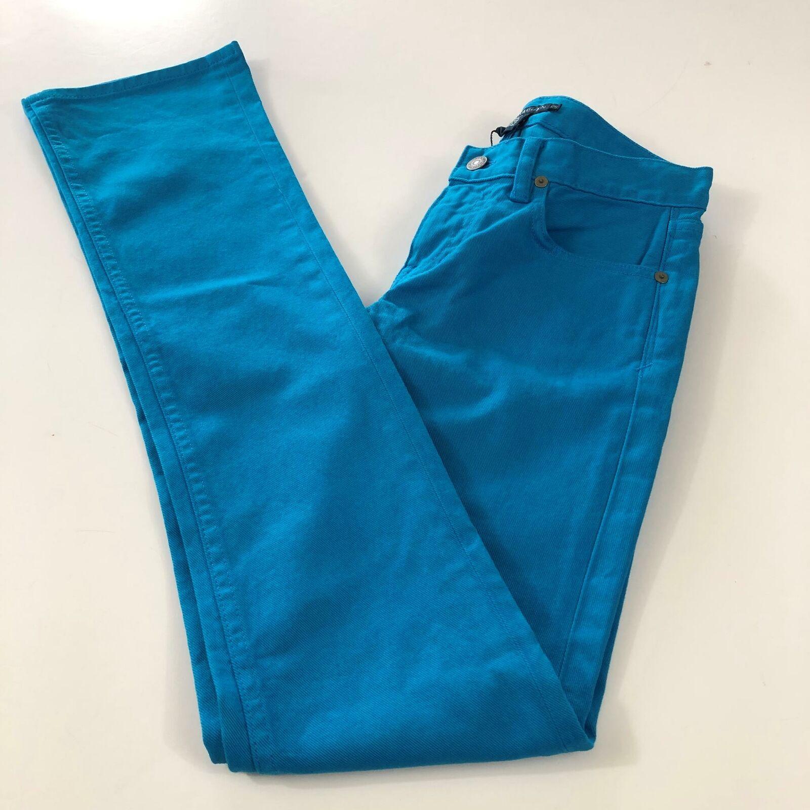 Ralph Lauren Women's New Big Pony Size 25 bluee Denim Flare Leg Jeans Turquoise