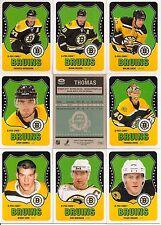 2010-11 OPC O-Pee-Chee Retro Boston Bruins Complete Team Set (24)