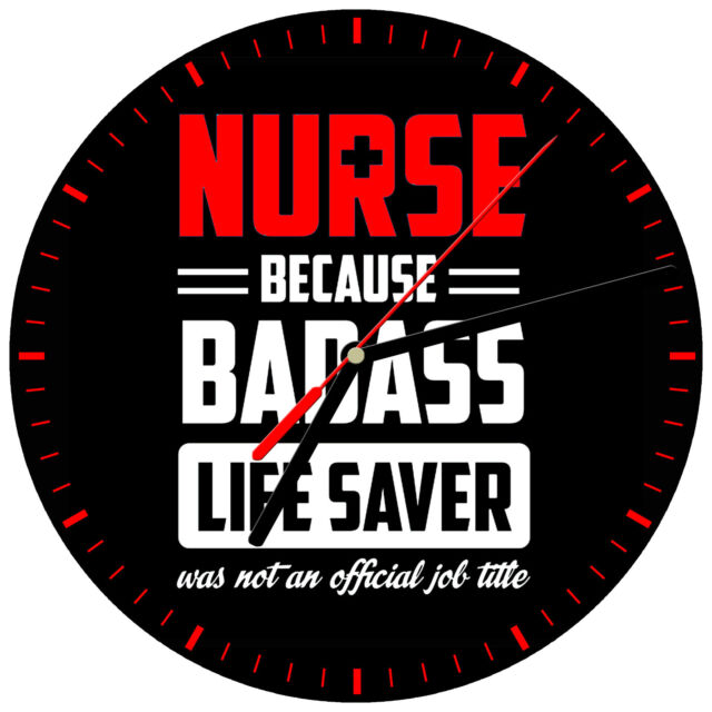 "NURSE #10 RN LPN Healthcare medical nursing care heart hospital 8/"" WALL CLOCK"