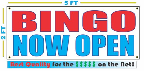 BINGO NOW OPEN Banner Sign NEW Larger Size Best Quality for the $$$