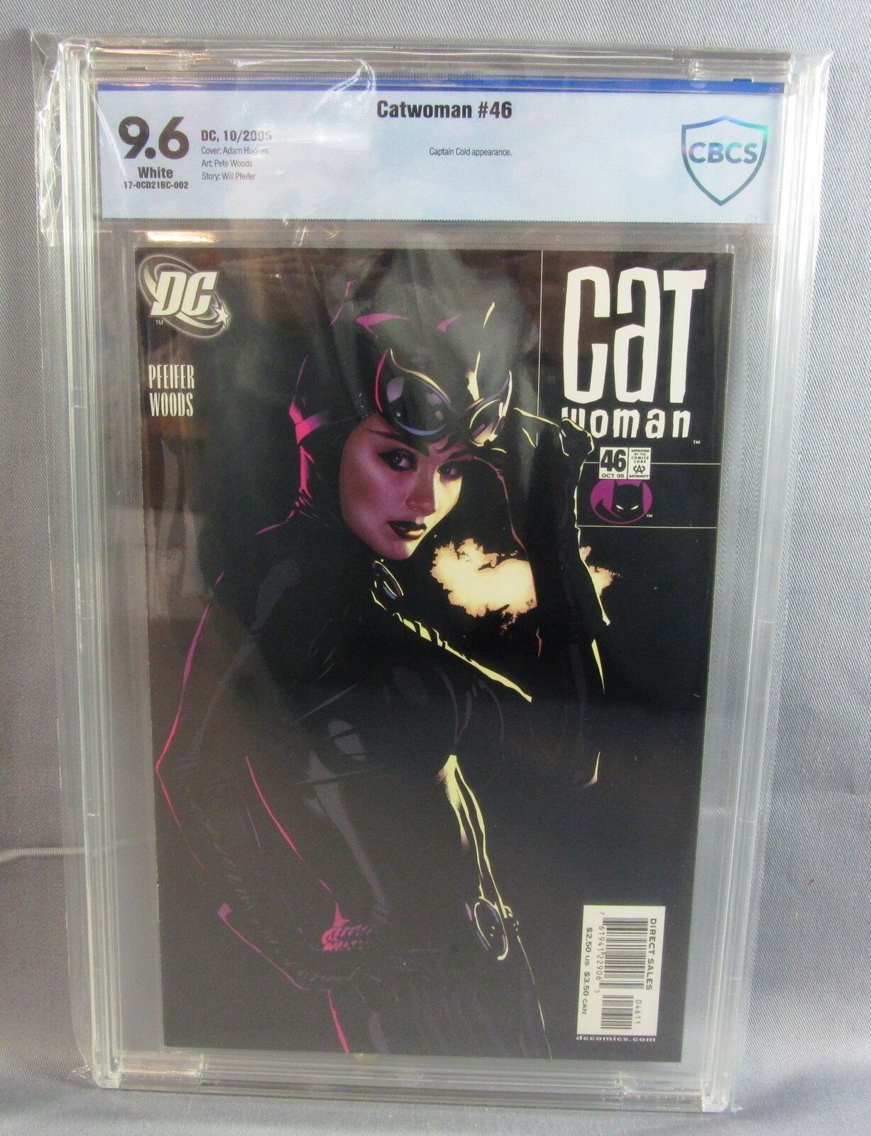 CATWOMAN N ° 46 (couverture d Adam Hughes) Pages blanches CBCS 9.6 NM + DC 2005 cgc