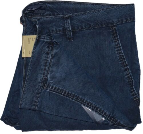 Pionier® Herren Jeanshose Jeans Hose Megaflex Dunkelblau Gabardine Übergröße