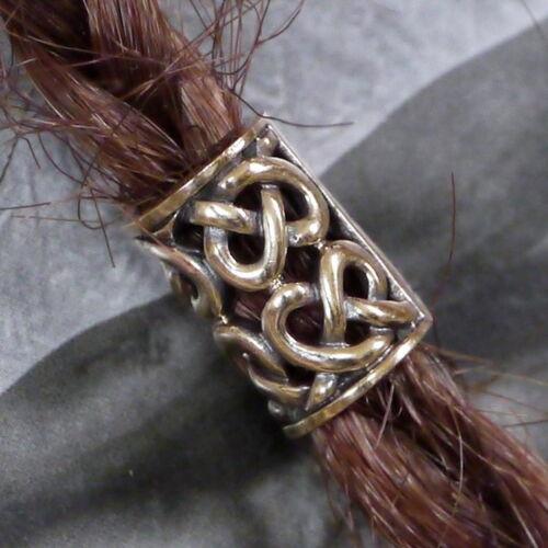 Bart Perle Bartperle Bartschmuck  Bronze Bartgummis Wikinger  Keltik 6mm Loch