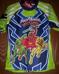 110f546694ea Power Rangers Mystic Force Shirt Boy's size 7 NeW Green Yellow Red ...