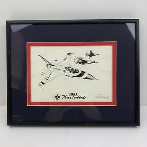 Robert-L-Conely-USAF-Thunderbirds-Pencil-Drawing-SIGNED