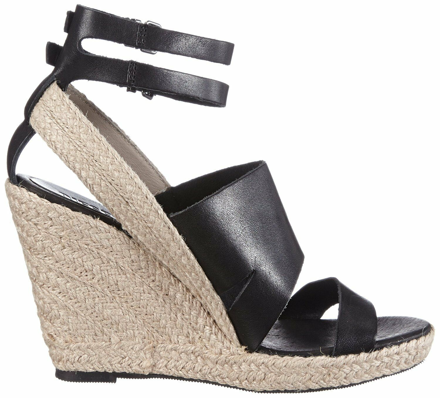 Diesel Alma Leather Wedge Sandal SIze 7.5