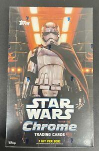 Star Wars Topps Chrome The Force Awakens Trading Card HOBBY Box [24 Packs]