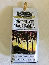 Hawaii Hawaiian Isles Kona Coffee Co. Chocolate Macadamia Nut 10 oz. grind NEW
